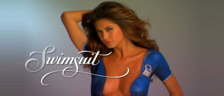 body painting : fille nue maillot foot paint coupe du monde 2014