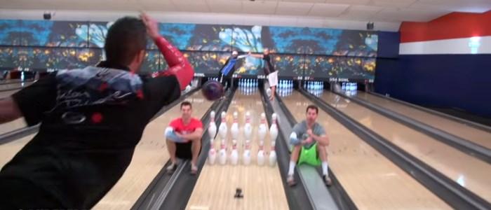 bowling trisk shots : Jason Belmonte + Dude Perfect