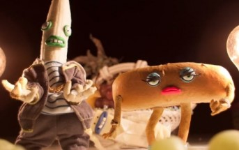 Butter Ya'Self : une banane et un hot dog rappent en stop motion