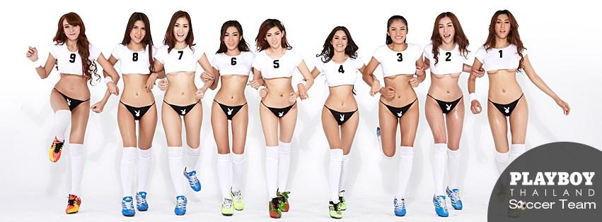 Les footballeuses sexy de playboy Thaïlande