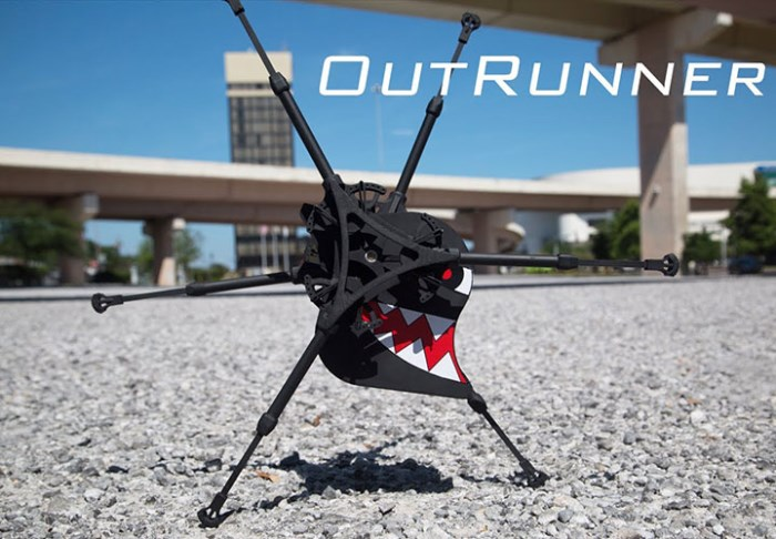 outrunner, lerobot marcheur de robotics unlimited