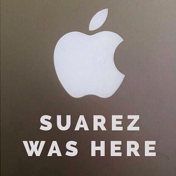parodie morsure suarez apple