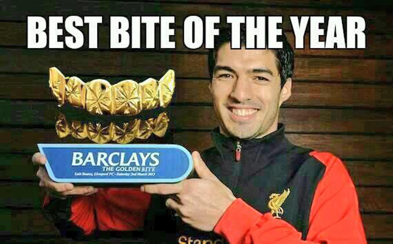 parodie morsure suarez : best bite of the year !