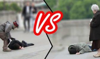 le poids des apparences : sdf vs homme en costume