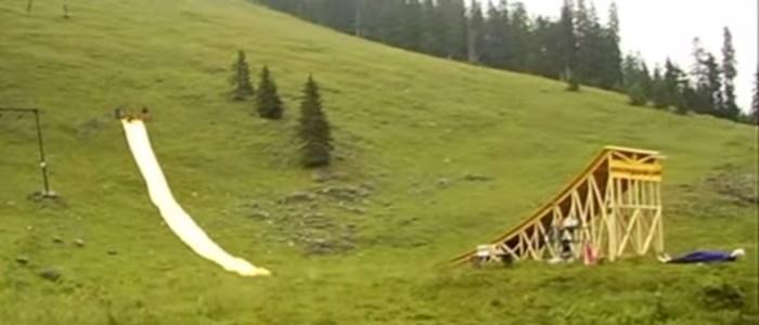 rampe toboggan géant mega woosh