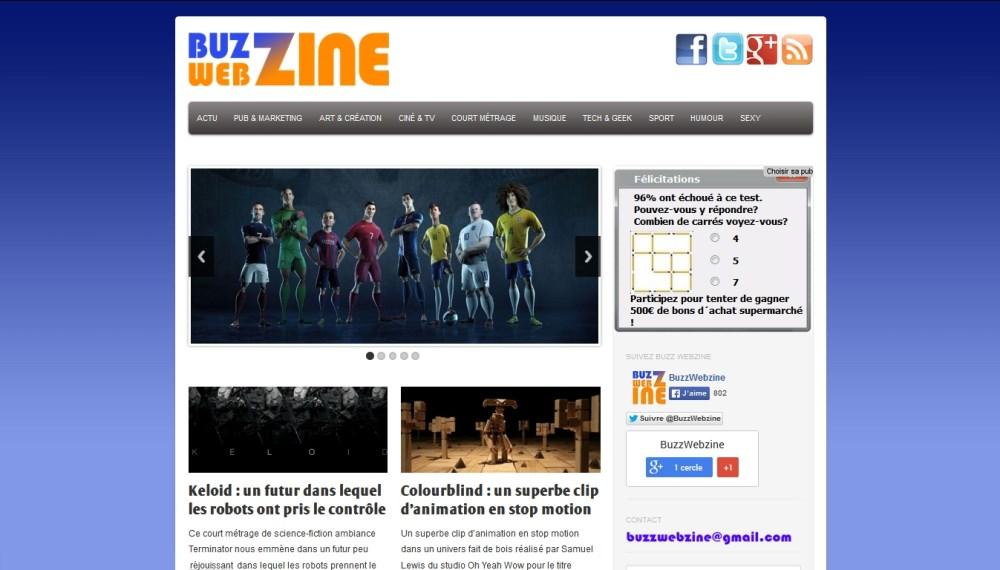buzzwebzine screenshot au 140712 thème tiga