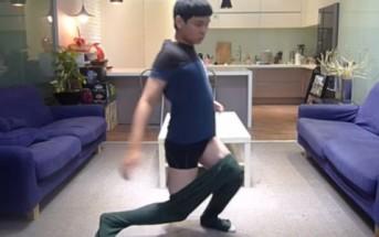 Comment enfiler un pantalon sans les mains ? la réponse en vidéo !