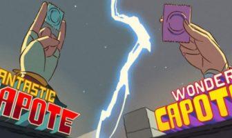 fantastic capote & wonder capote : les super-héros presérvatifs