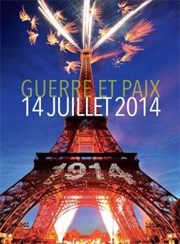 Le feu d'artifice du 14 juillet 2014 à la Tour Eiffel : guerre et paix