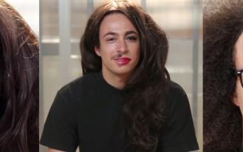 Des hommes maquillés à moitié ressemblent à des femmes