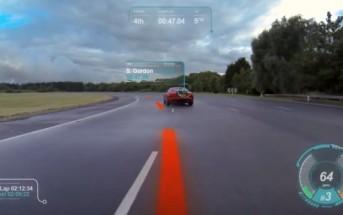 Jaguar présente un pare-brise virtuel en réalité augmentée