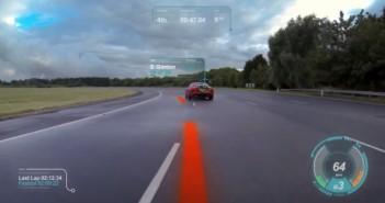 le pare-brise virtuel en réalité augmentée par jaguar