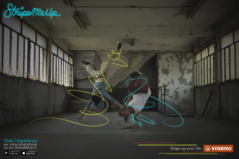 stabilo stripe me up : breakdancers