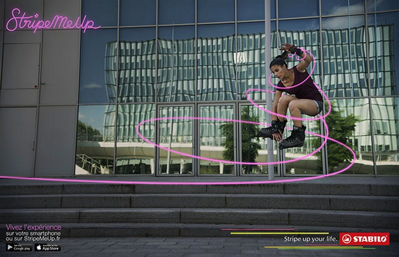 stabilo stripe me up : roller girl