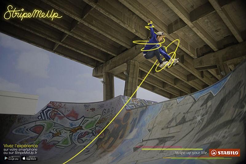 stabilo stripe me up : skateur