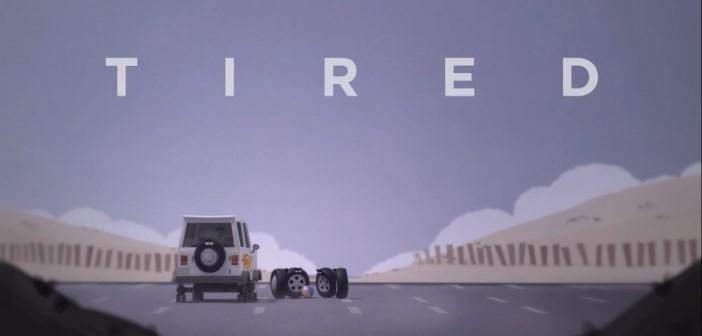 tired : court-métrage d'animtion sur une roue de secours