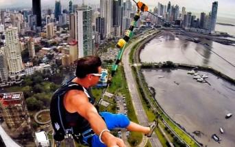 La plus grande tyrolienne urbaine du monde à Panama City