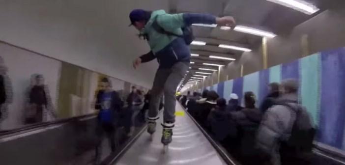 Warren Digne roller metro paris