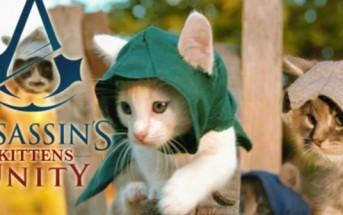 Le jeu vidéo Assassin's Creed Unity parodié avec des chatons