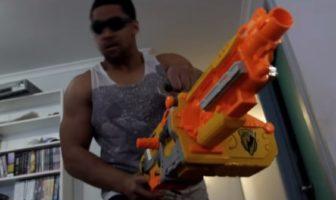 bataille pistolets nerf