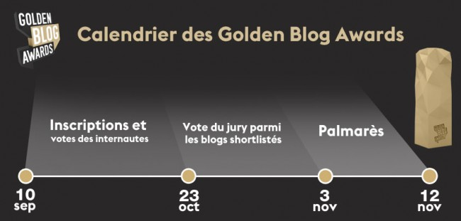 calendrier golden blog awards 2014 #gba5