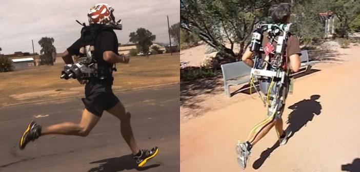 Un jetpack et un exosquelette pour courir plus vite