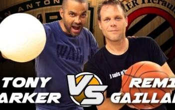 Tony Parker vs Rémi Gaillard : trickshots basket