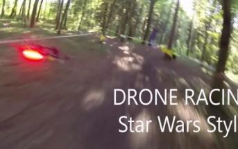 Vidéo : une course de drones en forêt comme dans Star Wars