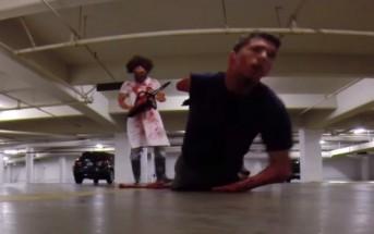 Caméra cachée d'horreur : massacre à la tronçonneuse en vrai