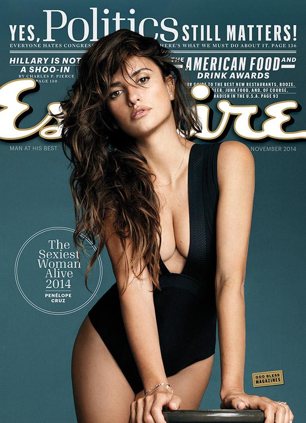 """Penélope Cruz élue femme la plus sexy au monde en 2014 par Esquire - """"Sexiest Woman Alive"""""""