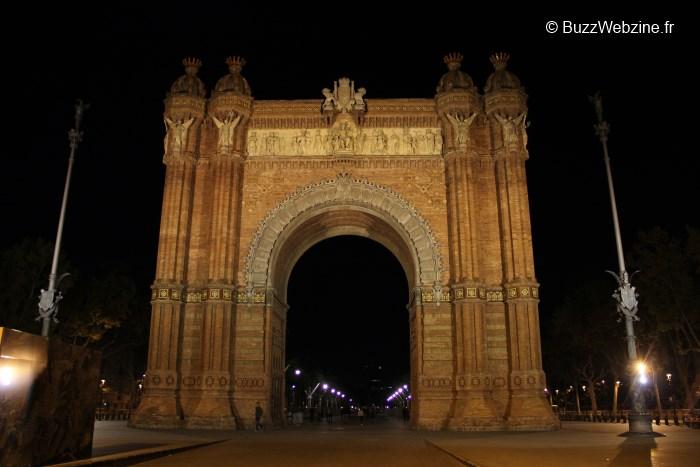 L'arc de triomphe à Barcelone