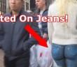bodypaint-jean-blonde-nue-new-york-sans-pantalon