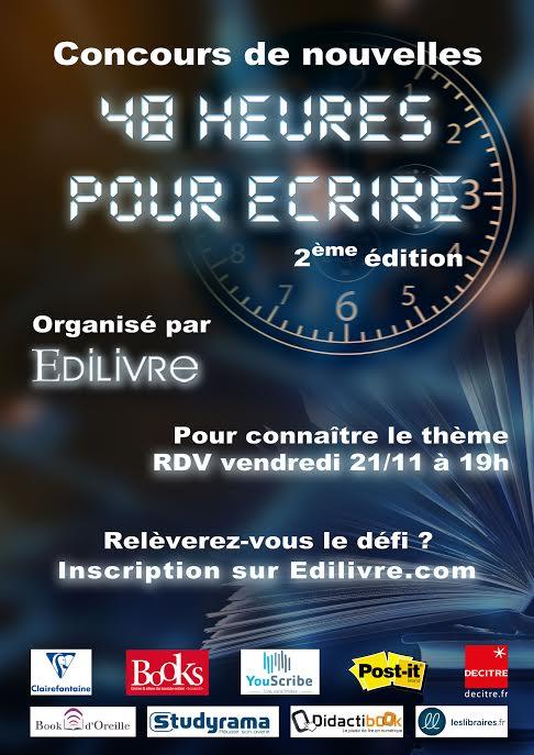 concours nouvelles edilivre : 48 heures pour écrire