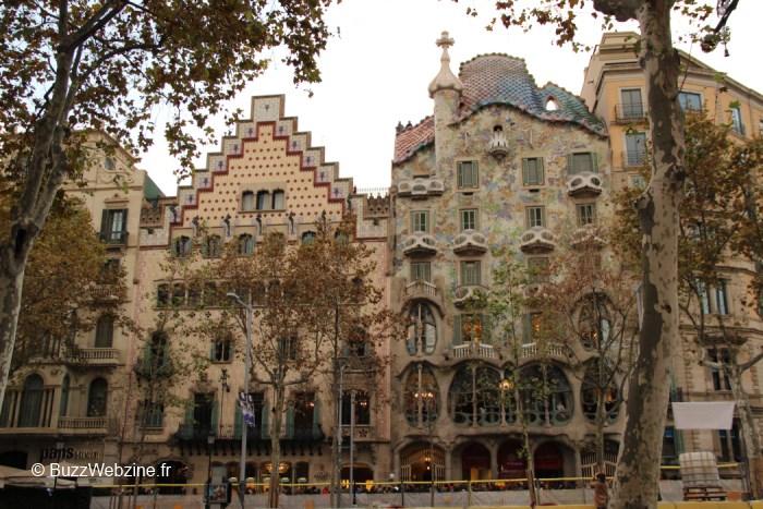 maisons de Gaudi Passeig de Gracia à Barcelone