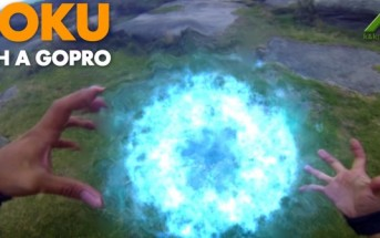 Sangoku de Dragon Ball Z se filme avec une GoPro