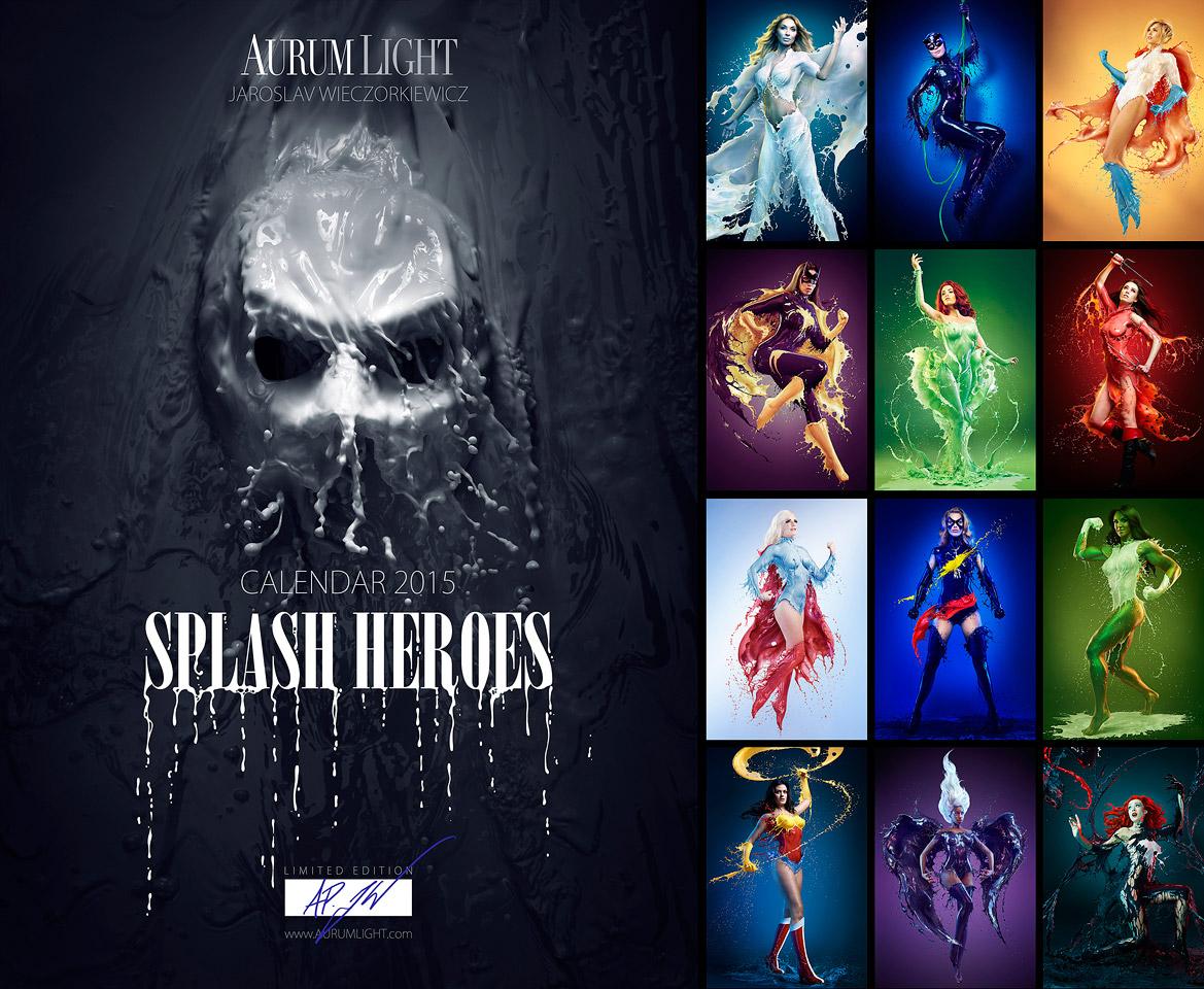 Splash Heroes calendrier 2015 : la couverture