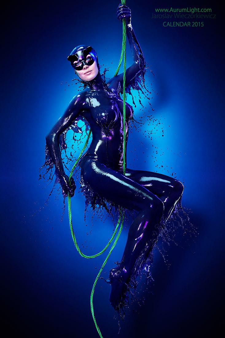 Splash Heroes calendrier 2015 : Miss février Jay Jessop Catwoman