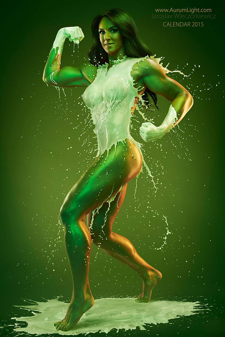 Splash Heroes calendrier 2015 : Miss Septembre Kate Austin Hulk Girl