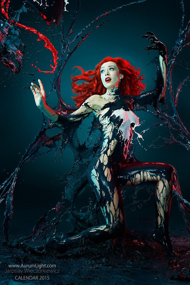 Splash Heroes calendrier 2015 : Miss Décembre Jay Jessop dark poison ivy