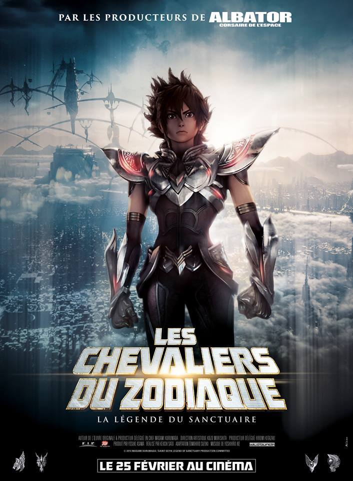 affiche du film d'animation 3D 2015 : Les chevaliers du zodiaque : la légende du sanctuaire