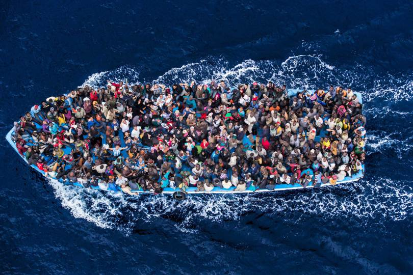 6/ Massimo Sestini. Mer méditerranée. 7 juin 2014.