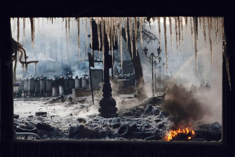 4/ Ross McDonnel. Kiev, Ukraine.25 janvier 2014.