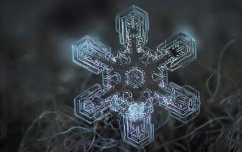La naissance d'un flocon de neige en vidéo