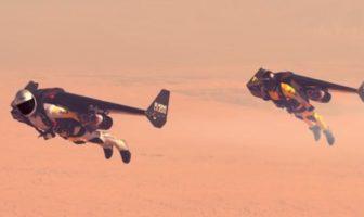 jetman : l'homme volant avec des aile à réaction