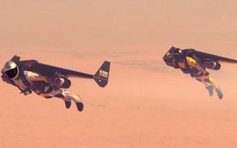 Jetman : l'homme volant avec une aile à réaction en vidéo