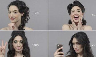 Maquillage & Coiffure : 100 ans de beauté féminine en 1mn