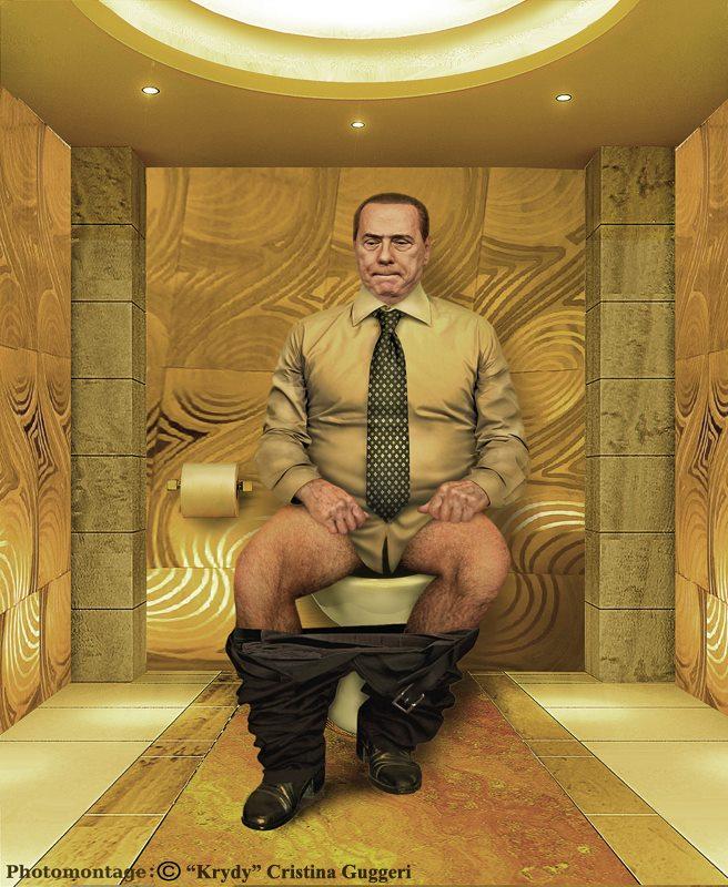 Silvio Berlusconi, l'ex premier ministre de l'Italie aux chiottes