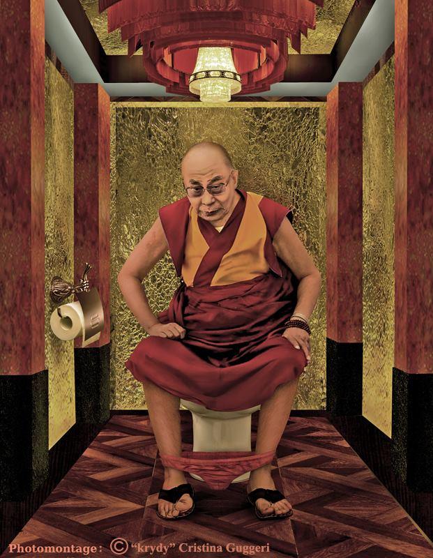 Le Dalaï-lama aux toilettes