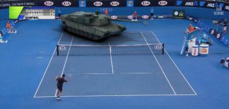 Djokovic vs tank Abrams