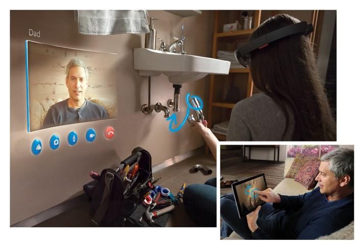 Microsoft HoloLens : assitance à distance